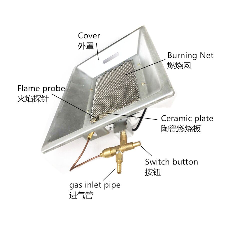 Chick poultry Infrared catalyze brooding warmer Hatching duck hatching machine gas infrared brooder equipment radiant warmer